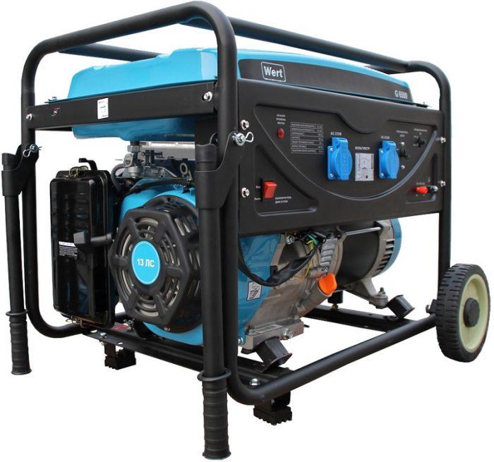 Генератор бензиновый WERT G 6500