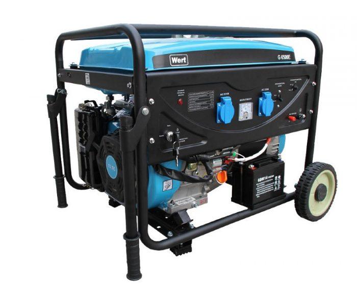 Генератор бензиновый WERT G 6500Е