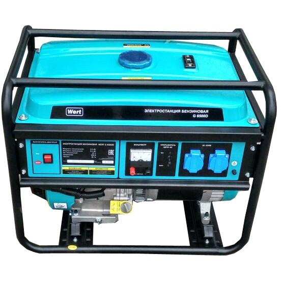 Генератор бензиновый WERT G 6500 D