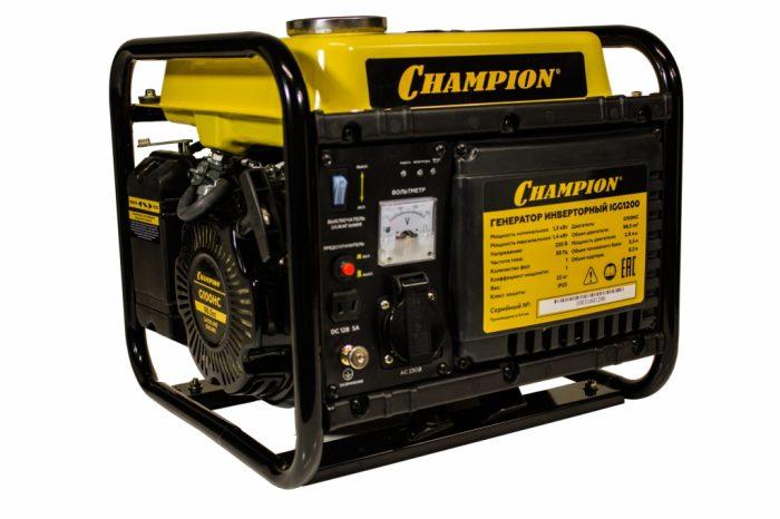 Генератор бензиновый инверторный CHAMPION IGG 1200