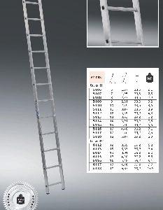 "Лестница ""Алюмет"" 1х18 ступ., алюм., односекционная"