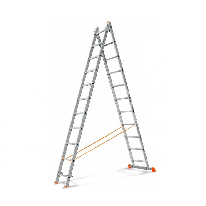 "Лестница ""Алюмет"" 2х11 ступ., алюм., двухсекционная"