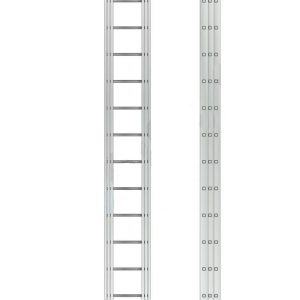 "Лестница ""Алюмет"" 2х18 ступ., алюм., двухсекционная"
