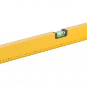 """Уровень """"Старт"""", 3 глазка, желтый корпус, фрезер. рабочая грань, магниты, шкала 1000 мм FIT"""